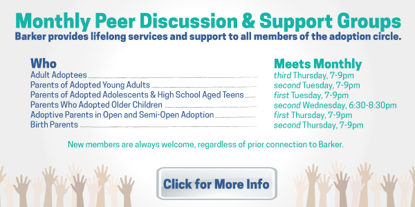 Barker Monthly Discussion Support Groups